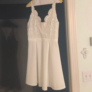 Francesca's White Lacy Dress